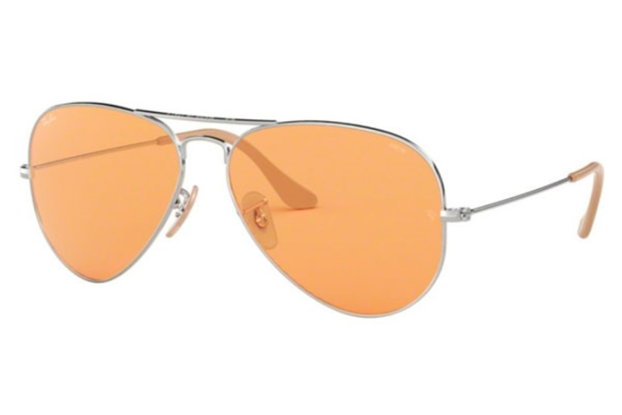 Ray-Ban RB 3025 (Aviator Large Metal) Continued Sunglasses in 9065V9 Silver / Orange