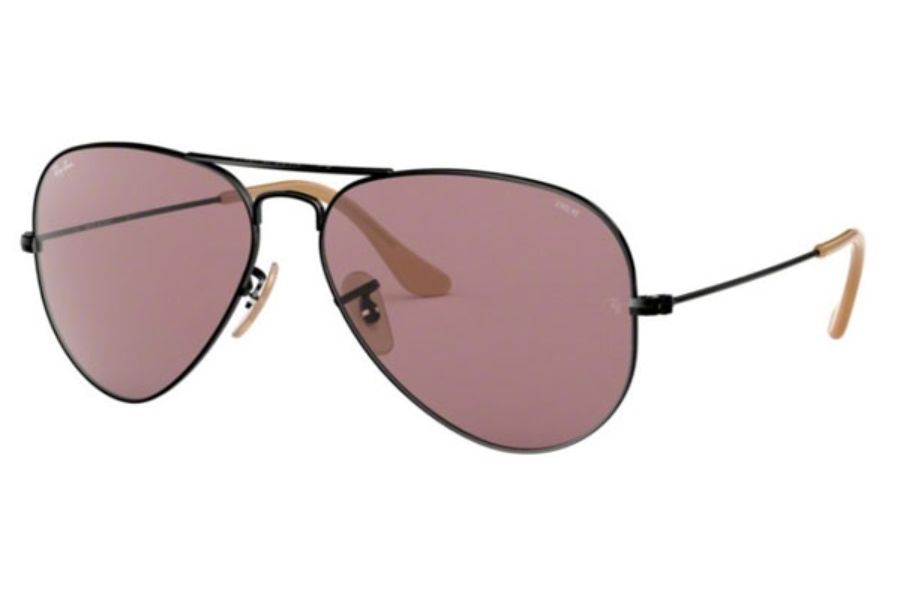 Ray-Ban RB 3025 (Aviator Large Metal) Continued Sunglasses in 9066Z0 Balck / Violet