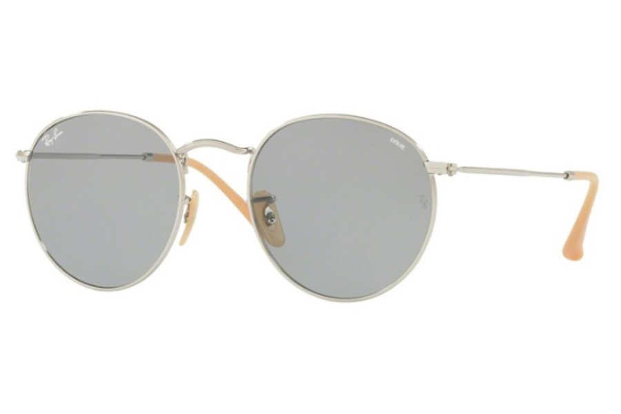Ray-Ban RB 3447 ROUND METAL Sunglasses in 9065I5 Silver / Photo Blue  ( Only 50 and 53 Eye size Aailable)