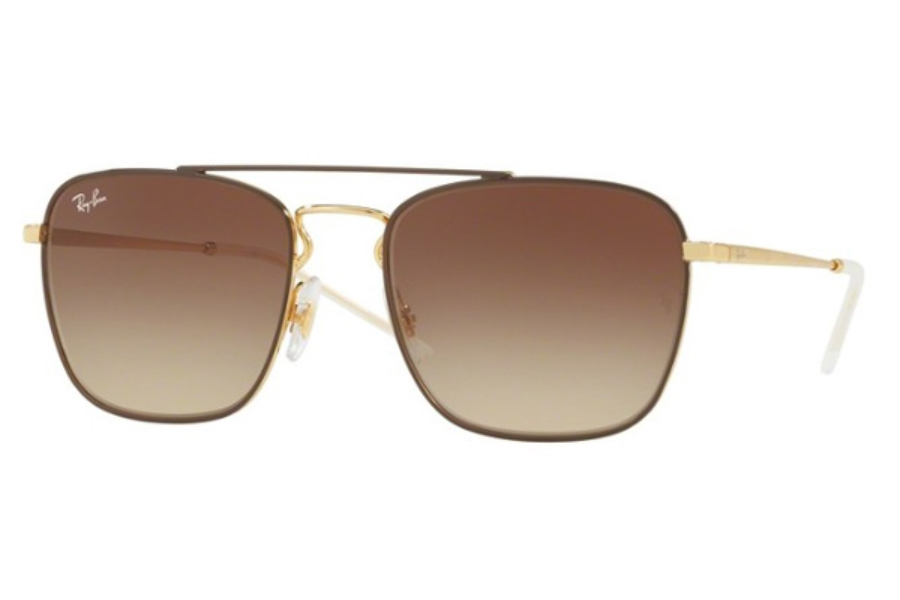 e4fc02faf4e ... Ray-Ban RB 3588 Sunglasses in 905513 Gold Top On Brown   Brown Gradient  Dark ...