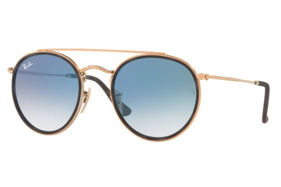 Ray-Ban RB 3647N Sunglasses in 90473F Shiny Copper / Clear Gradient Blue