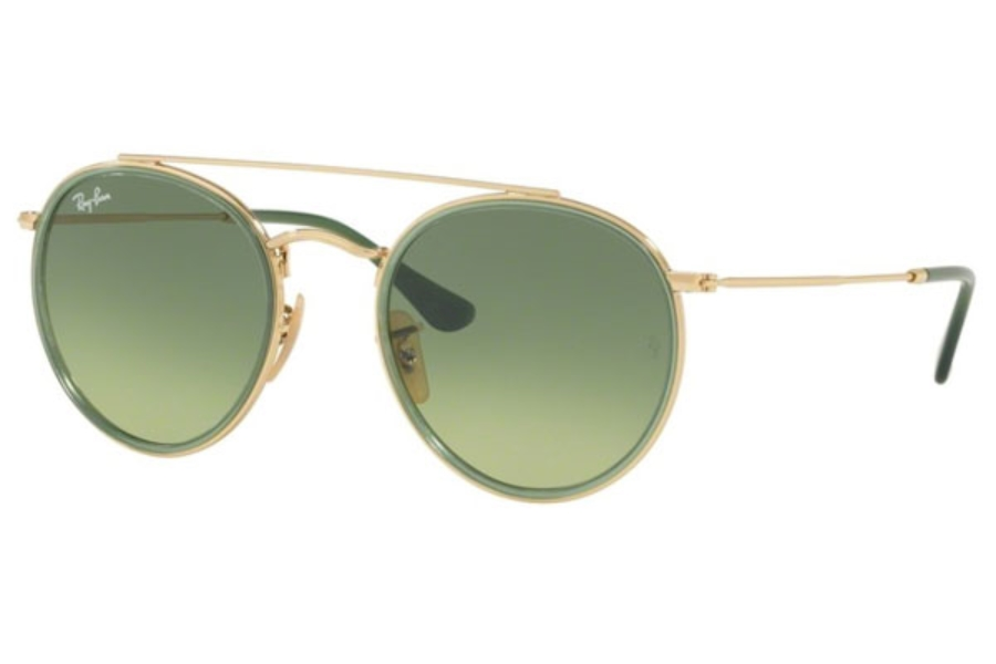 Ray-Ban RB 3647N Sunglasses in 91224M Gold / Green Gradient Green