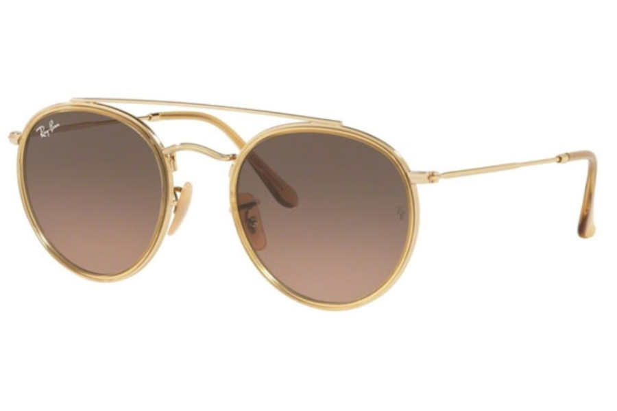 Ray-Ban RB 3647N Sunglasses in 912443 Gold / Brown Gradient Grey