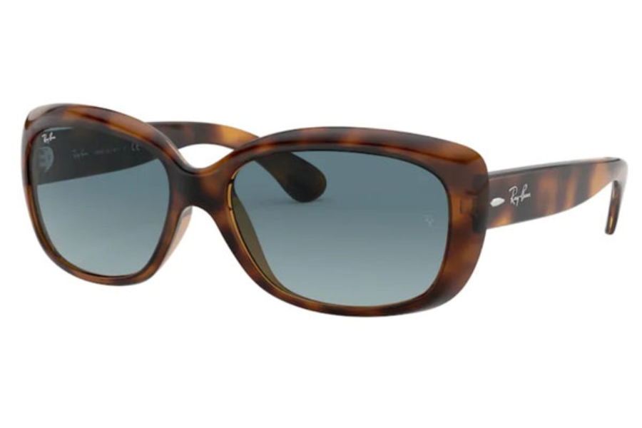 Ray-Ban RB 4101 JACKIE OHH Sunglasses in 642/3M Havana / Blue Gradient Grey