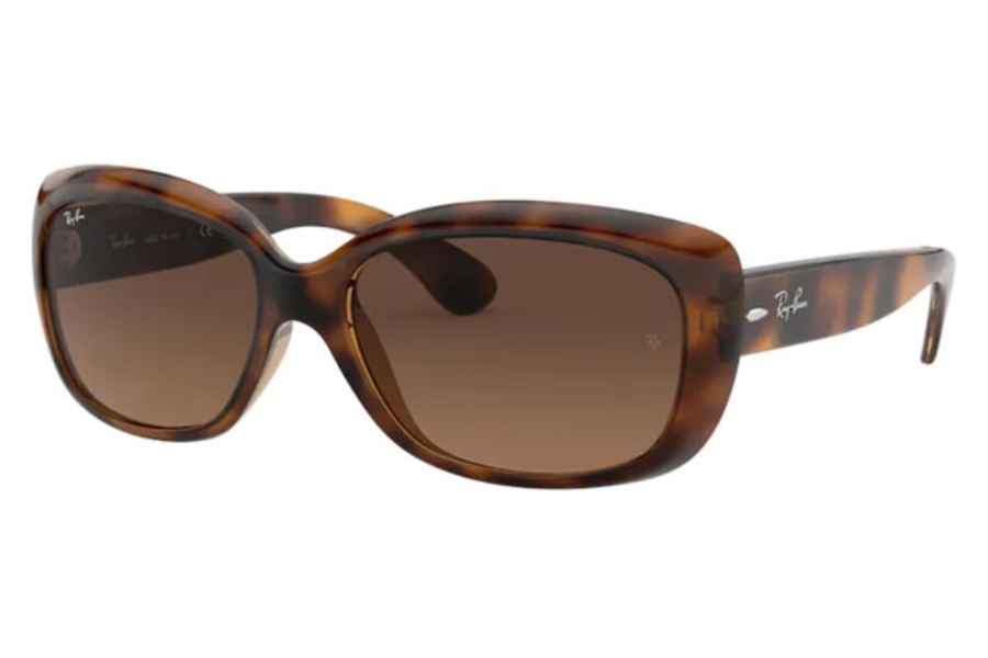 Ray-Ban RB 4101 JACKIE OHH Sunglasses in 642/43 Havana / Light Brown Gradient Black