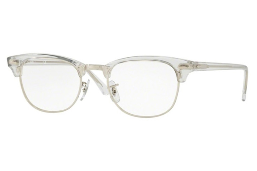 Ray-Ban RX 5154 Clubmaster Eyeglasses in 2001 White Trasparent