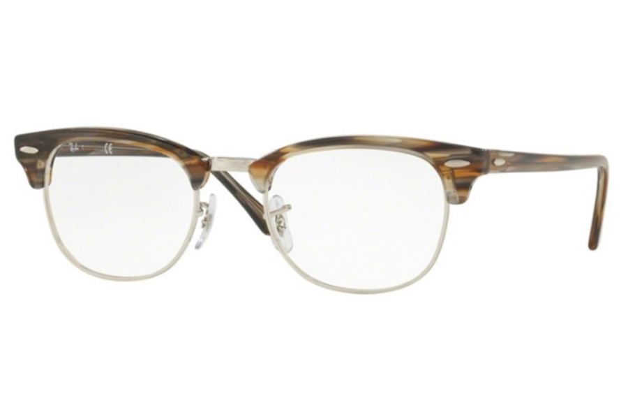 Ray-Ban RX 5154 Clubmaster Eyeglasses in 5749 Brown/Grey Stripped