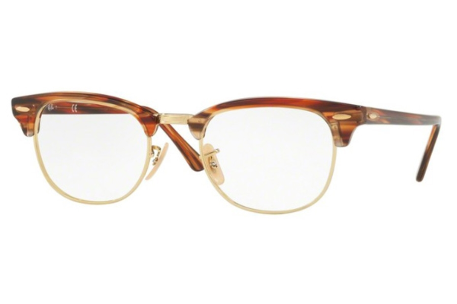 Ray-Ban RX 5154 Clubmaster Eyeglasses in 5751 Brown/Beige Stripped
