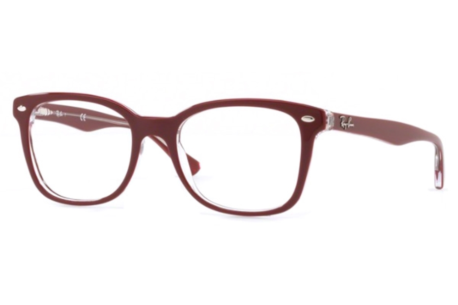 10442bf57d Ray-Ban RX 5285 Eyeglasses in 5738 Top Bordeaux On Trasparent ...
