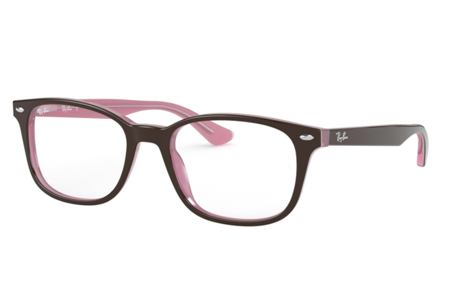 Ray-Ban RX 5375 Eyeglasses in 2126 Top Brown On Opal Pink