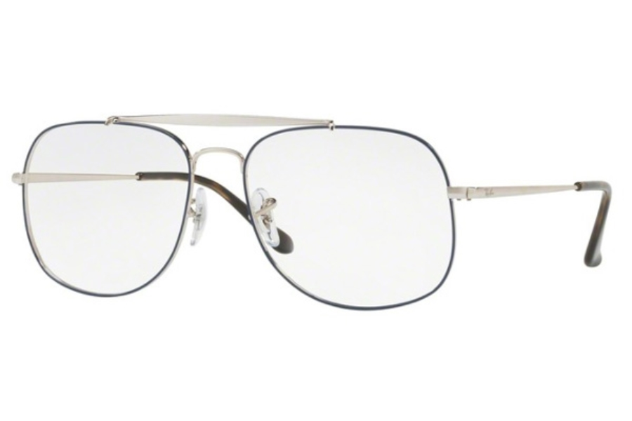 5625e68710b Ray-Ban RX 6389 Eyeglasses in 2970 Silver On Top Blue ...