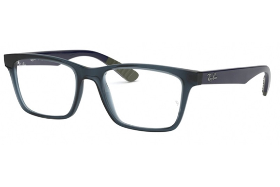 Ray-Ban RX 7025 Eyeglasses in 5796 Trasparent Blue