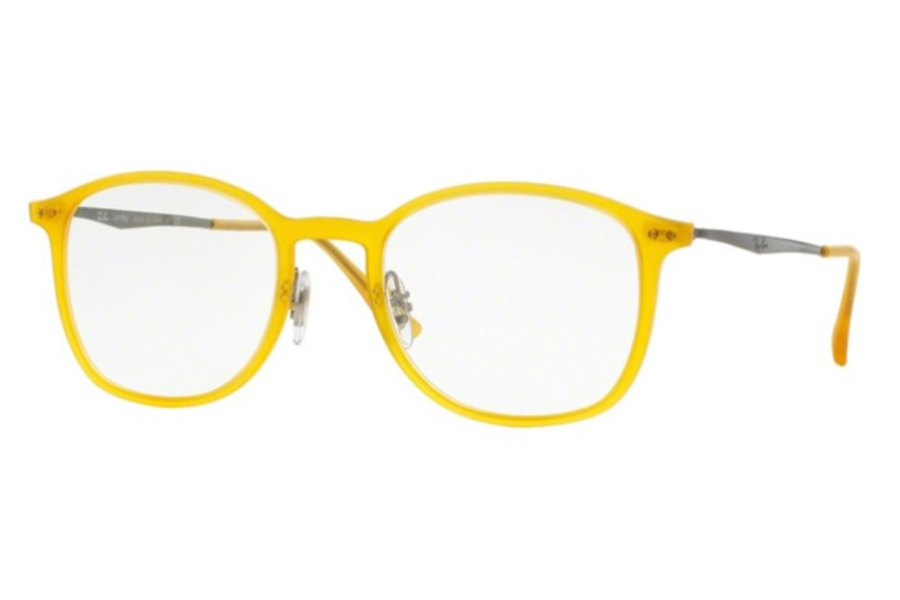 Ray-Ban RX 7051 Eyeglasses in 5519 Opal Matte Yellow