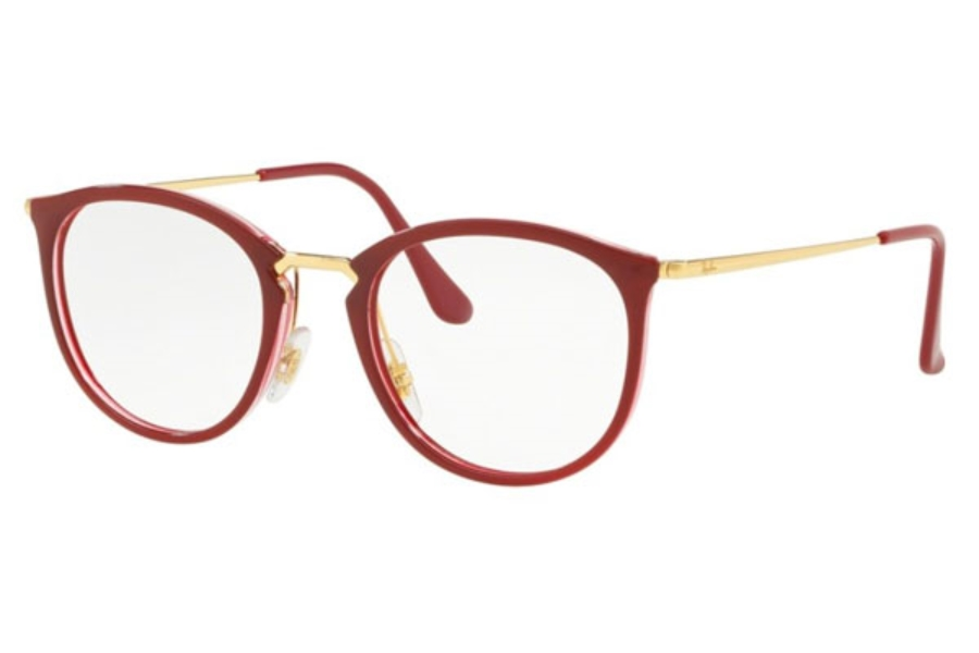65f7b203adb Ray-Ban RX 7140 Eyeglasses in 5854 Transparent On Top Amaranth ...