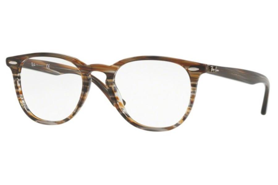 4524ec75d6 ... Ray-Ban RX 7159 Eyeglasses in 5749 Brown Grey Stripped ...