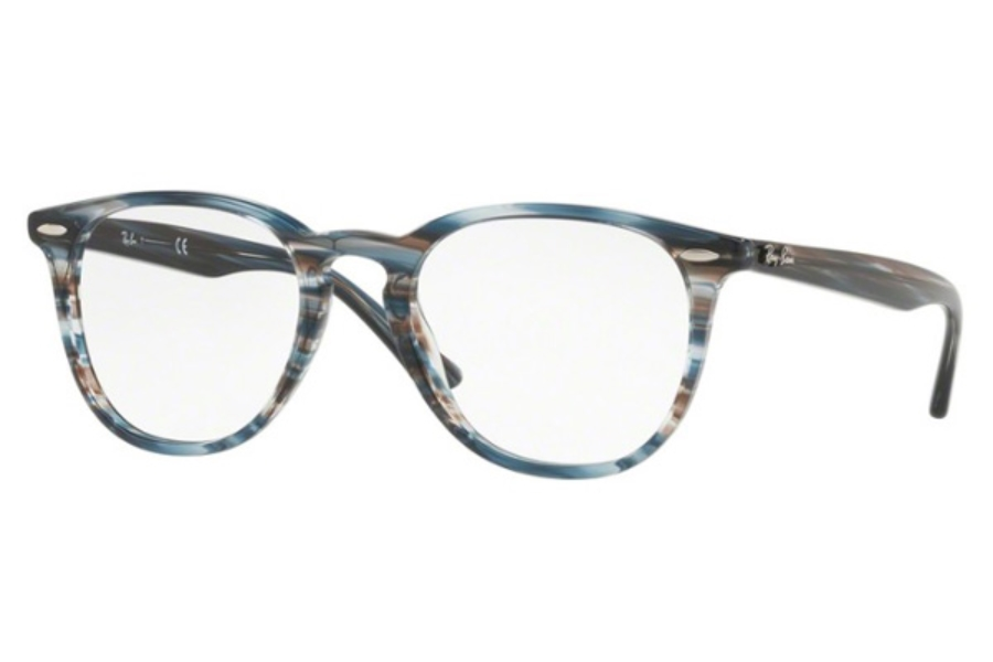 d4801f3336 ... 5749 Brown Grey Stripped  Ray-Ban RX 7159 Eyeglasses in 5750 Blue Grey  Stripped ...