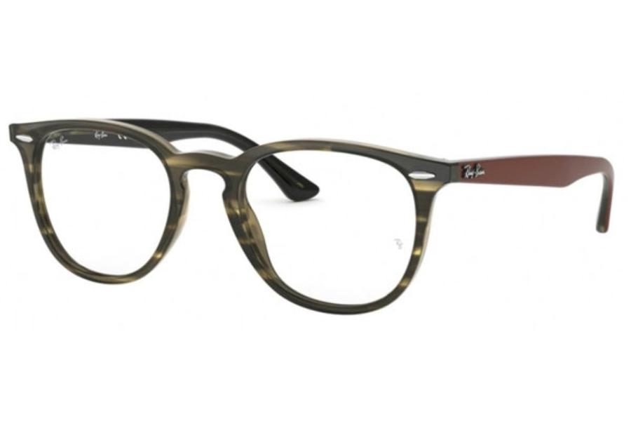 1545b57f77 ... Stripped  Ray-Ban RX 7159 Eyeglasses in 5798 Havana Green ...