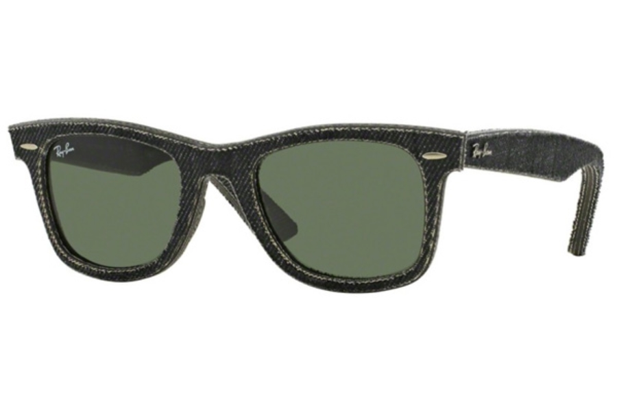 Ray-Ban RB 2140 Original Wayfarer Sunglasses in 1162 Jeans Black / Green (Discontinued)