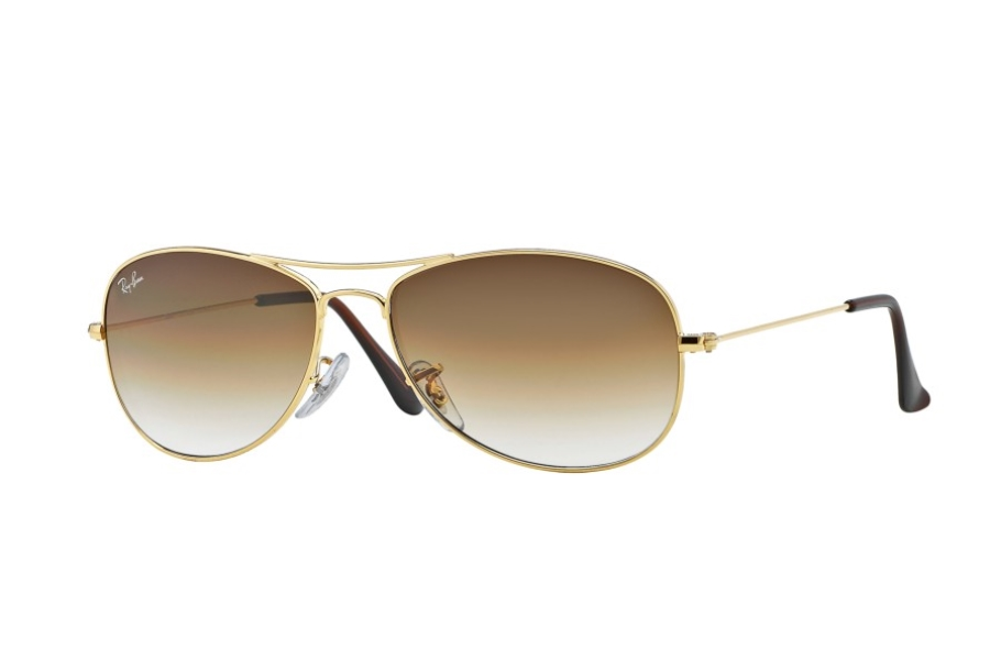 Ray-Ban RB 3362 Cockpit Sunglasses in 001/51 Arista w/ Crystal Brown Gradient Lenses