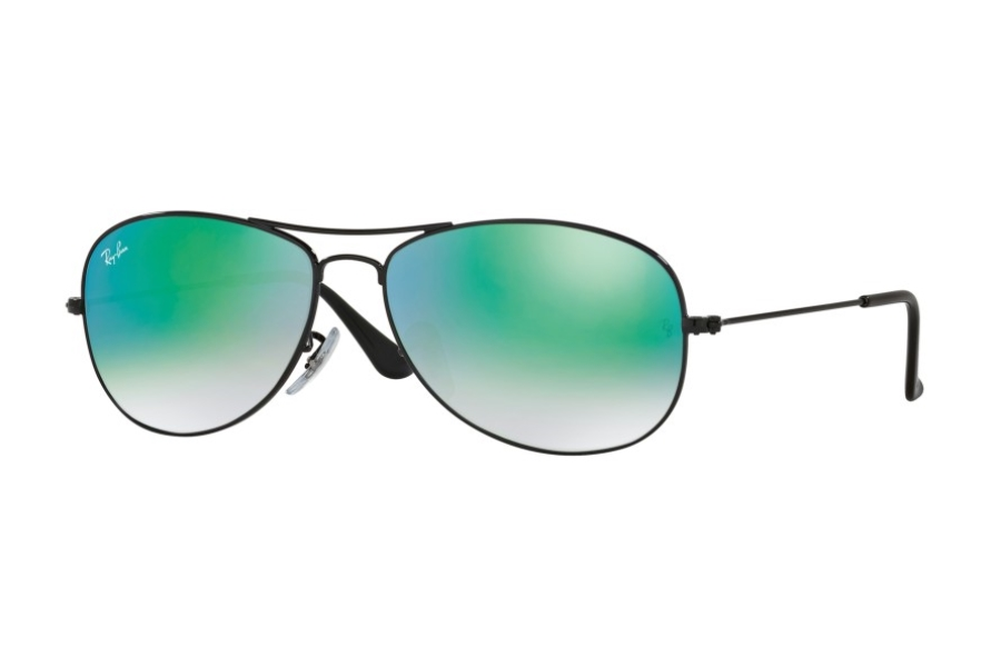 Ray-Ban RB 3362 Cockpit Sunglasses in 002/4J Shiny Black w/ Crystal Lenses