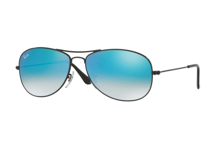 Ray-Ban RB 3362 Cockpit Sunglasses in 002/4O Shiny Black w/ Crystal Lenses