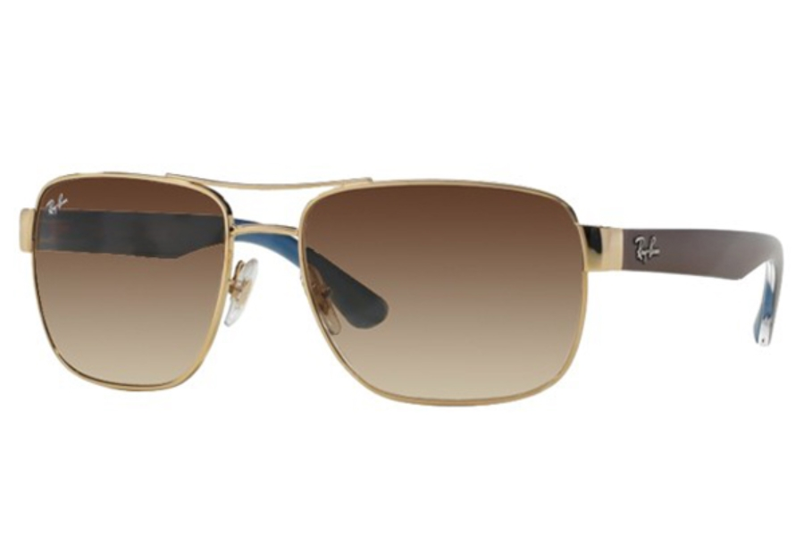 Ray-Ban RB 3530 Sunglasses in 001/13 Gold Brown Gradient