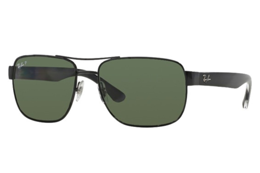 Ray-Ban RB 3530 Sunglasses in 002/9A Black Polar Green