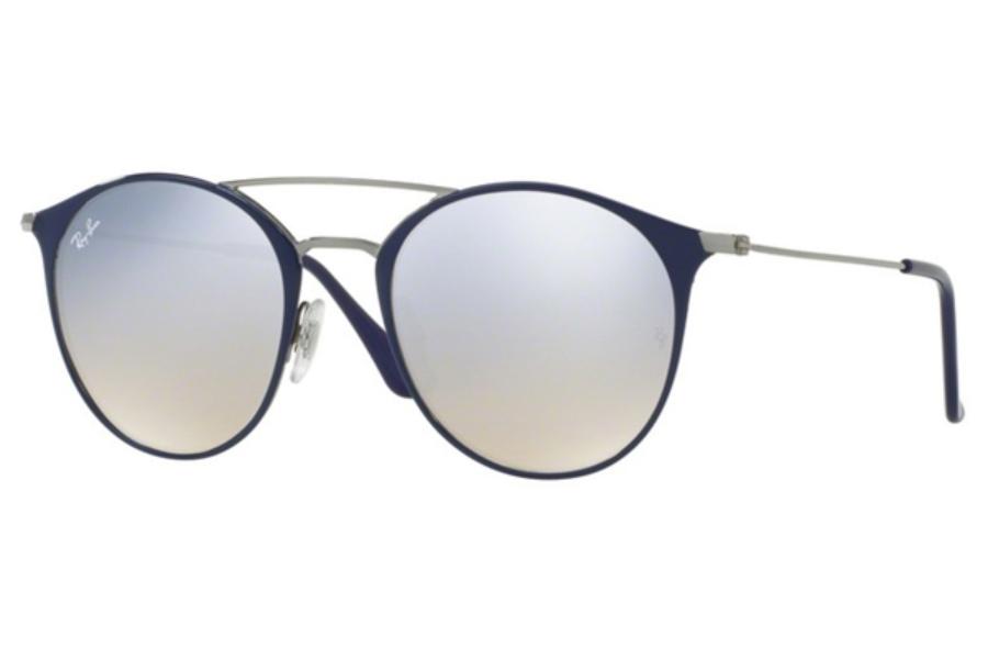 b71b5a820be3 ... Ray-Ban RB 3546 Sunglasses in 90109U Gunmetal Top Blue / Grey Flash  Gradient ...