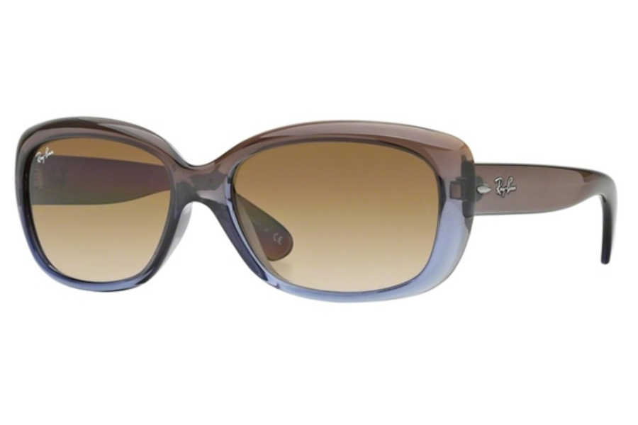 Ray-Ban RB 4101 JACKIE OHH Sunglasses in 860/51 Brown Gradient Lilac / Crystal Mg Chocolate Grad