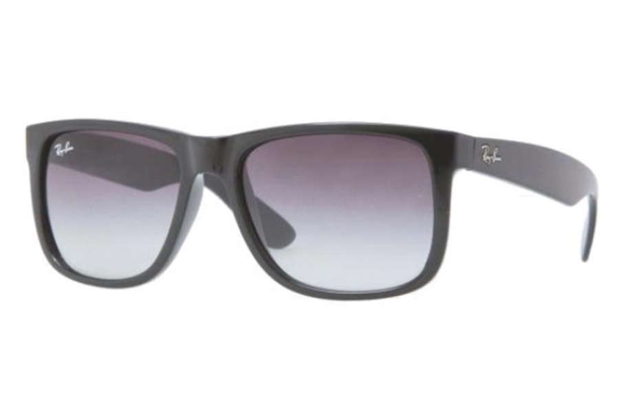 Ray-Ban RB 4165 JUSTIN Sunglasses in 601/8G RUBBER BLACK GRAY GRADIENT