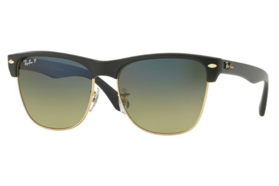 Ray-Ban RB 4175 Sunglasses in 877/76 Demigloss Black / Green Gradient Blue - Polar