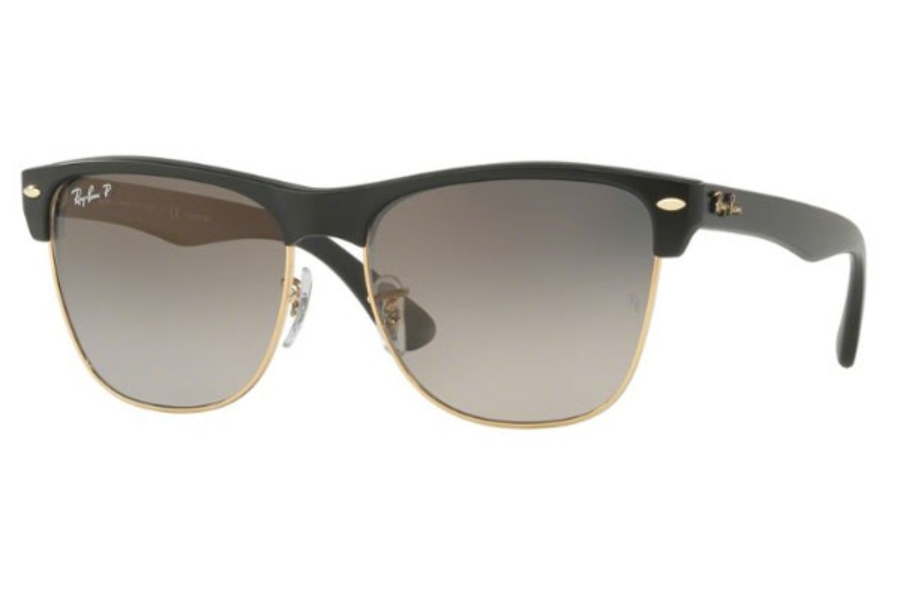 Ray-Ban RB 4175 Sunglasses in 877/M3 Demi Gloss Black / Grey Gradient Dark Grey - Pola