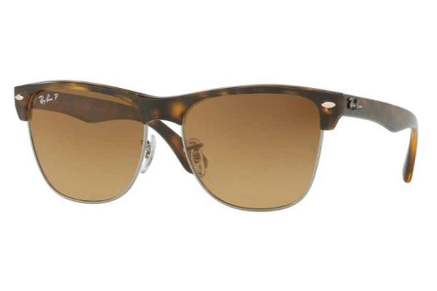 Ray-Ban RB 4175 Sunglasses in 878/M2 Demi Gloss Havana / Brown Gradient Brown - Polar