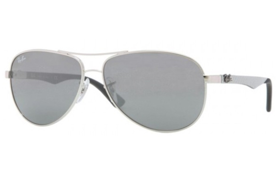 Ray-Ban RB 8313 Sunglasses in 003/40 Silver Crystal Gray Mirror
