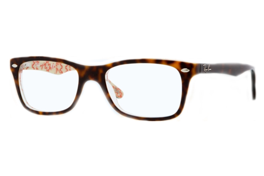 Ray-Ban RX 5228 Eyeglasses in 5057 Top Dark Havana On Beige Text