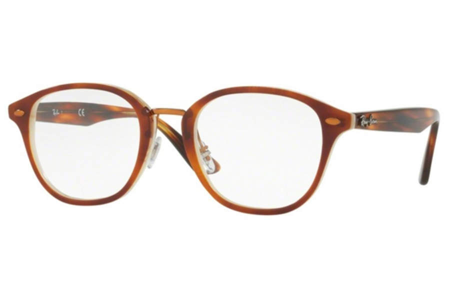 4f3cc27027e Ray-Ban RX 5355F Eyeglasses in 5677 Top Havana Brown Horn Beige ...