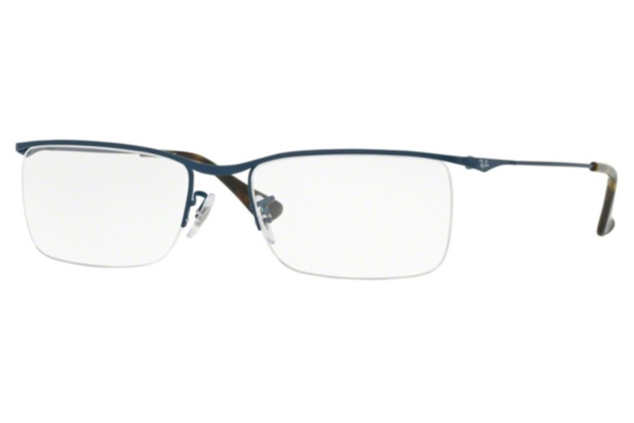 Ray-Ban RX 6370 Eyeglasses in 2887 Matte Blue (Discontinued)