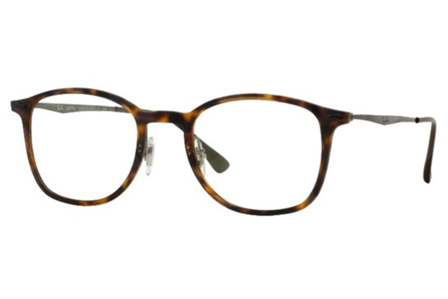 Ray-Ban RX 7051 Eyeglasses in 5200 Matte Havana