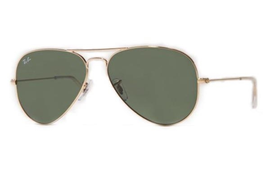 Ray-Ban RB 3025 (Aviator Large Metal) Sunglasses in W3234 Arista gold with G15 XLT lens (55 Eyesize Only)