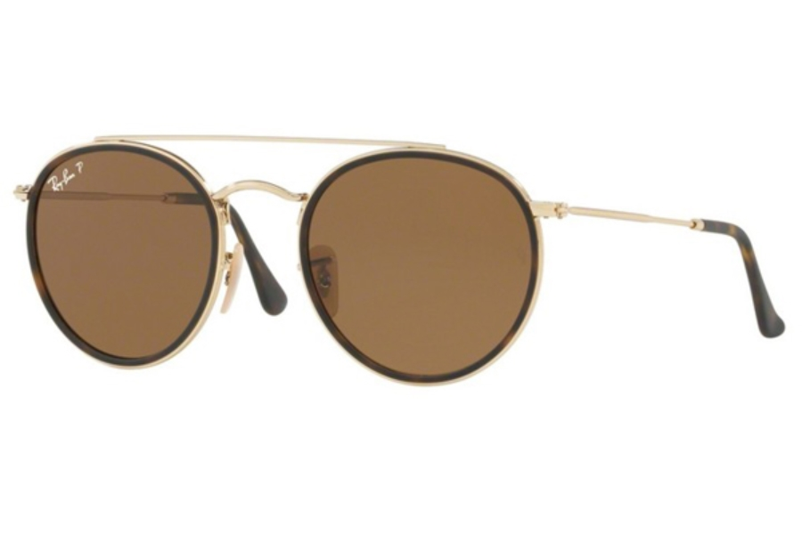 Ray-Ban RB 3647N Sunglasses in 001/57 Gold / Polar Brown