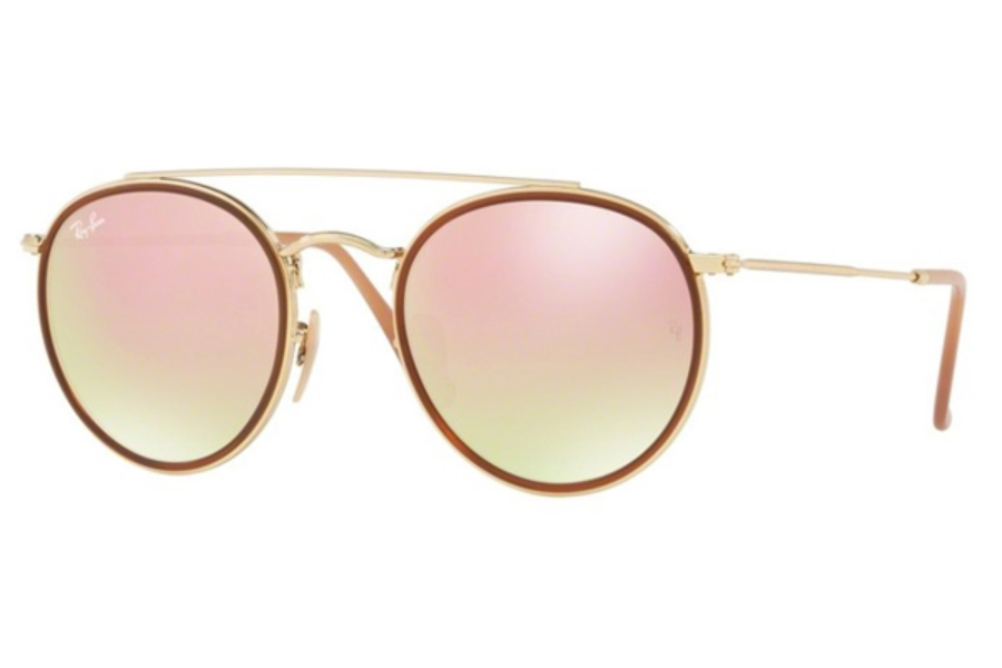 Ray-Ban RB 3647N Sunglasses in 001/7O Gold / Gradient Brown Mirror Pink