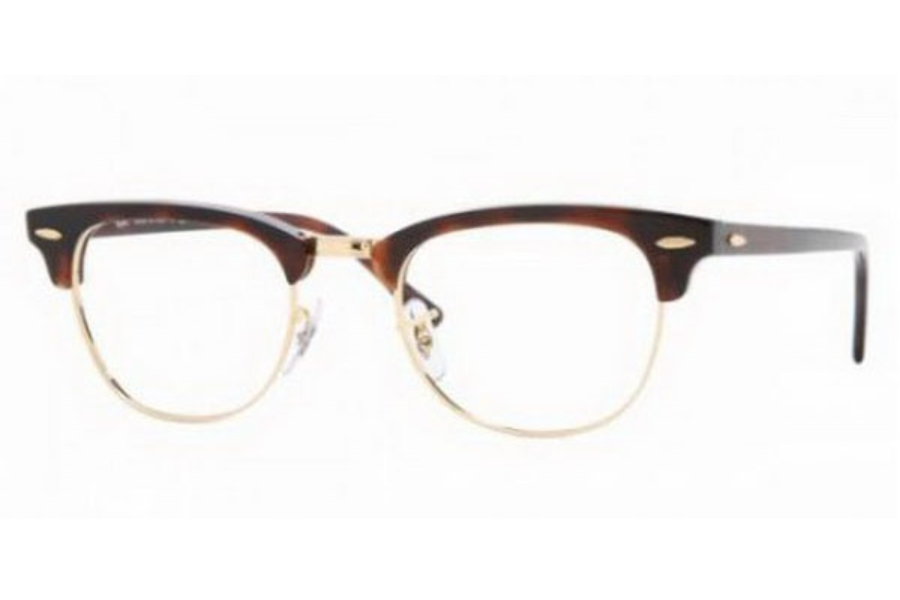 Ray-Ban RX 5154 Clubmaster Eyeglasses in 2372 Red Havana (49 eye size only)