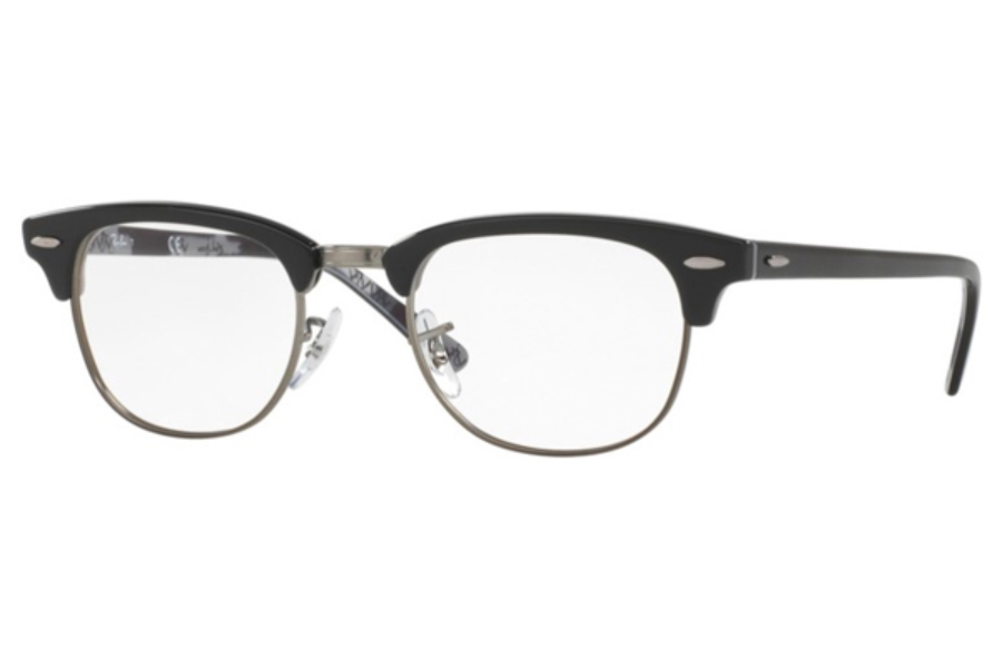 Ray-Ban RX 5154 Clubmaster Eyeglasses in 5649 Black On Texture Camuflage