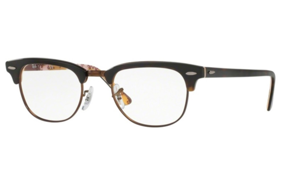 Ray-Ban RX 5154 Clubmaster Eyeglasses in 5650 Havana On Tex Camuflage (49 eye size only)