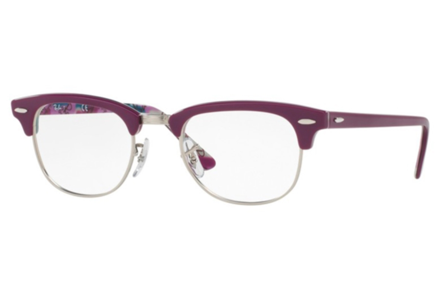 Ray-Ban RX 5154 Clubmaster Eyeglasses in 5652 Violet On Texture Camuflage (49 eye size only)