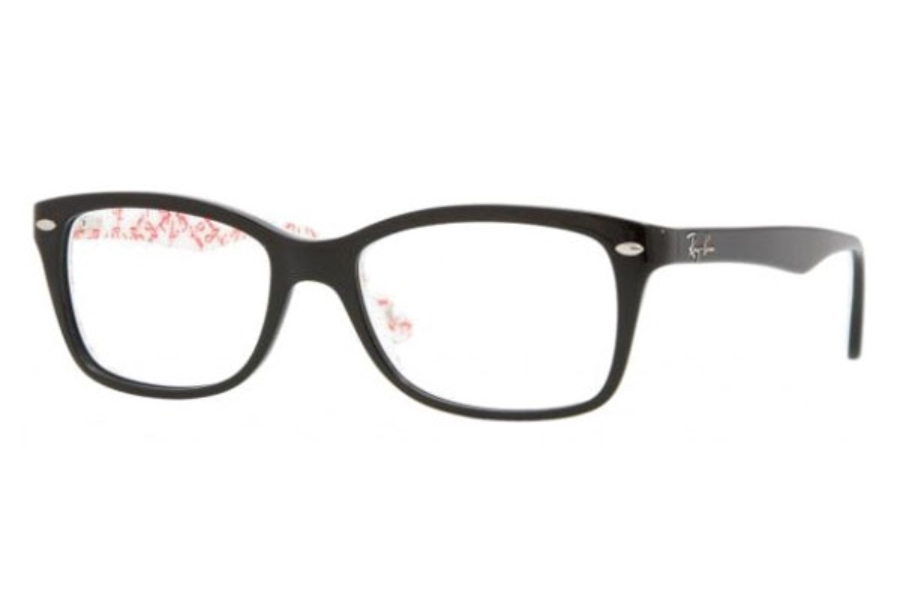 Ray-Ban RX 5228 Eyeglasses in 5014 Top Black on Texture White