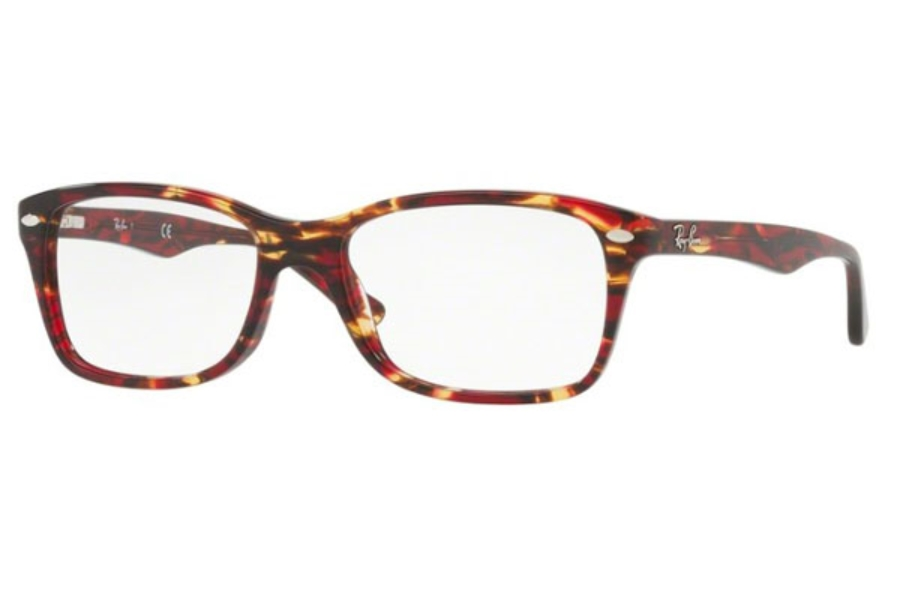 Ray-Ban RX 5228 Eyeglasses in 5710 Spotted Red/Brown Yellow