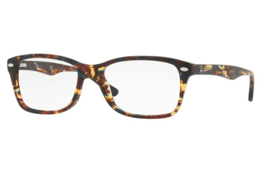 Ray-Ban RX 5228 Eyeglasses in 5711 Spotted Blu/Brown/Yellow
