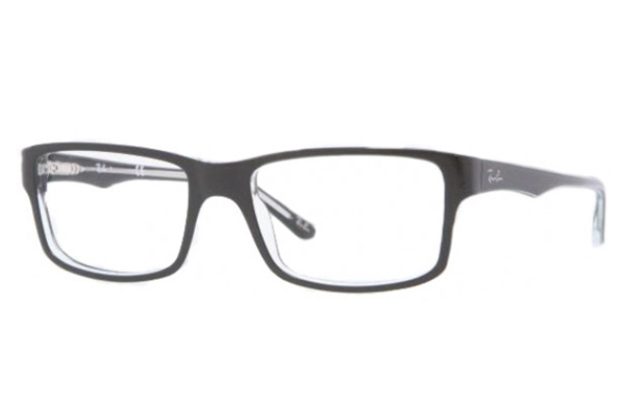 Ray-Ban RX 5245 Eyeglasses in 2034 Top Black On Transparent (52 & 54 Eyesizes Only)