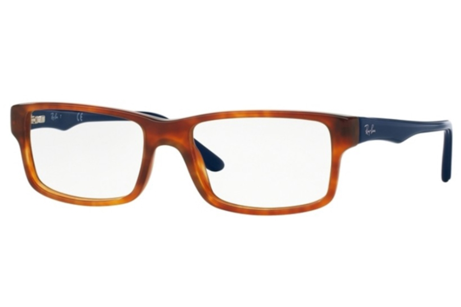 Ray-Ban RX 5245 Eyeglasses in 5069 Yellow Tortoise (54 Eyesize Only)